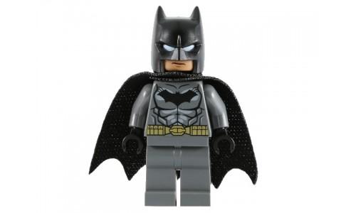 Batman - Dark Bluish Gray Suit, Gold Belt, Black Hands, Spongy Cape sh151