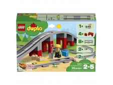 Конструктор LEGO DUPLO Железнодорожный мост и рельсы - 10872